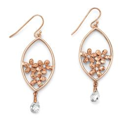 Isabella Collection Rose Goldplated Cubic Zirconia Earrings