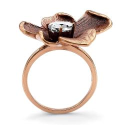 Lillith Star Rose Goldplated Cubic Zirconia Ring