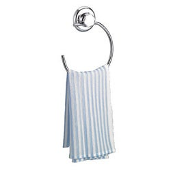 EZ Hold Suction System Rounded London Chrome-finish Towel Ring