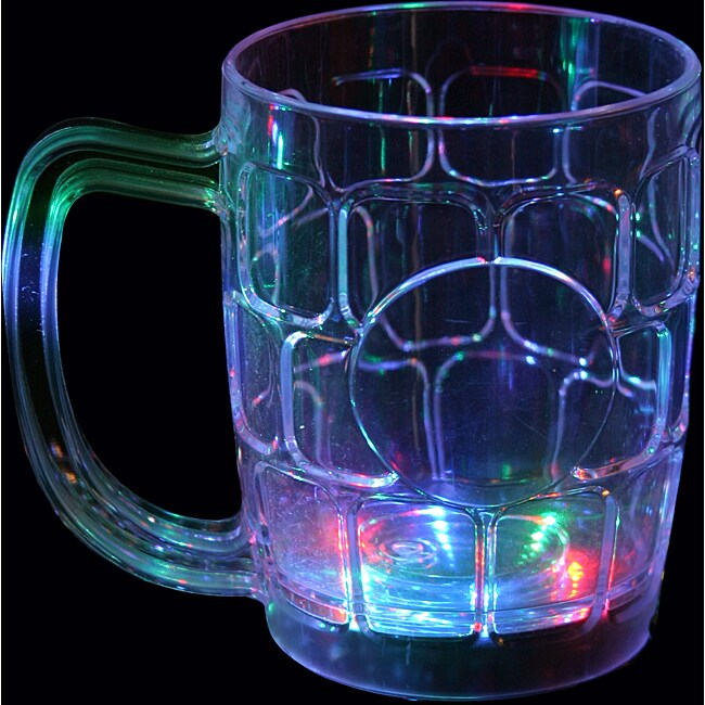 Multicolor Flashing Beer Mugs (Set of 12)