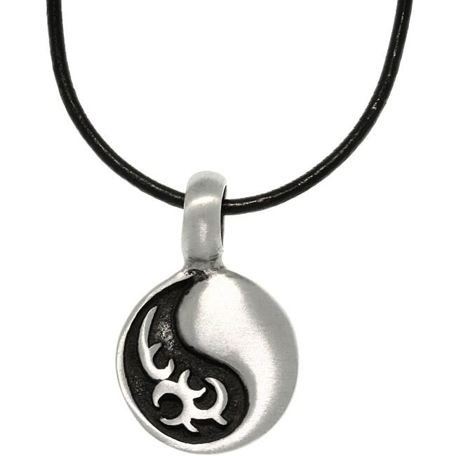 CGC Pewter Unisex Tribal Yin Yang Necklace