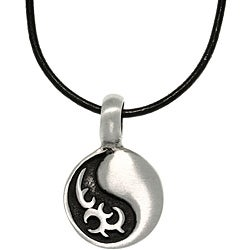 CGC Pewter Unisex Tribal Yin Yang Necklace