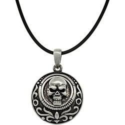 CGC Pewter Unisex Skull Medallion Necklace