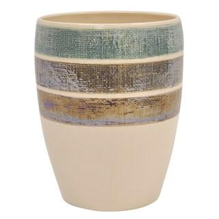 Ceramic Rayan Beige Wastebasket