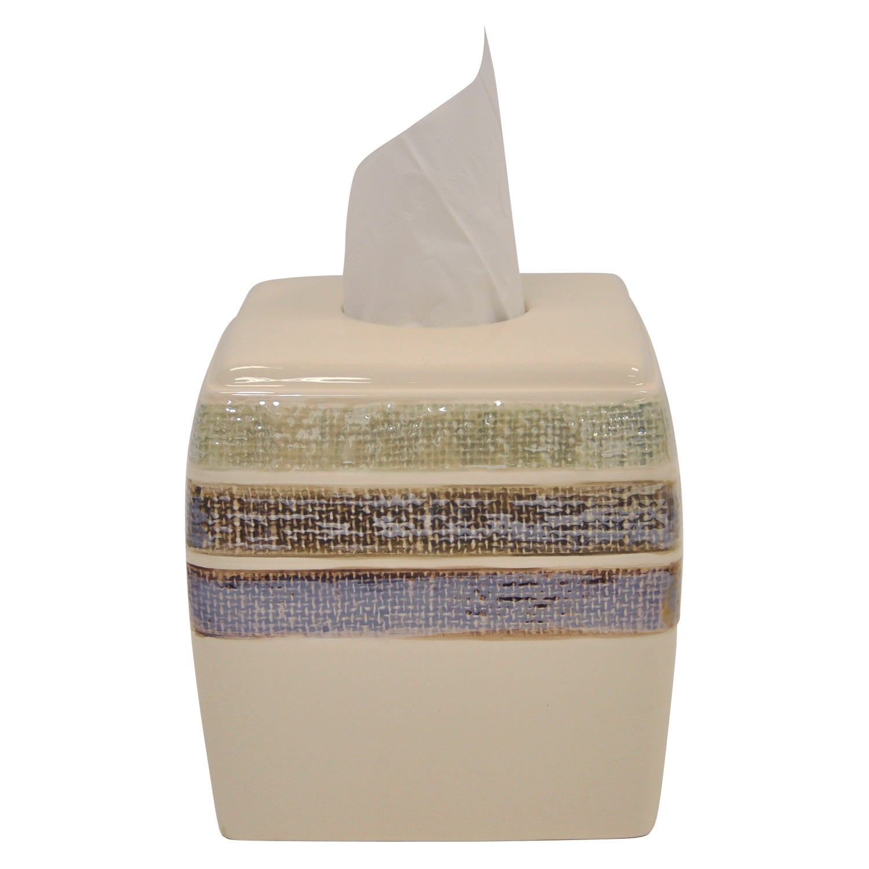 Overstock.com Ceramic Rayan Beige Tissue Holder at Sears.com