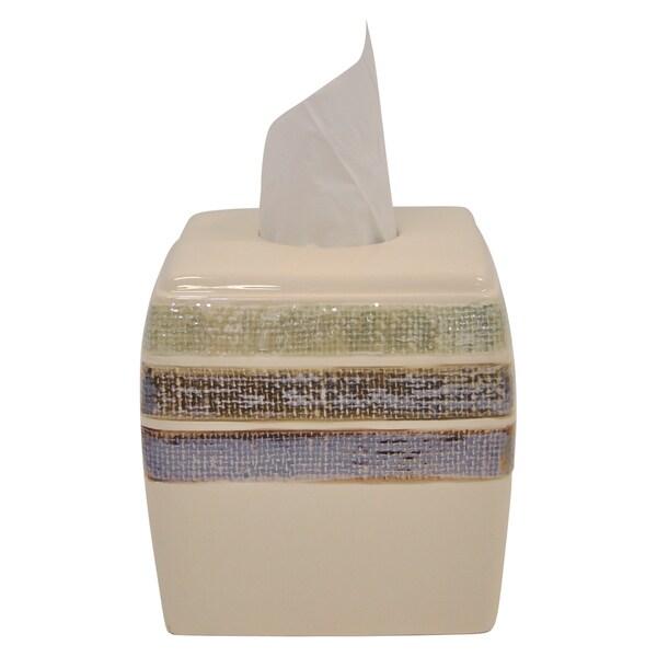 Ceramic Rayan Beige Tissue Holder