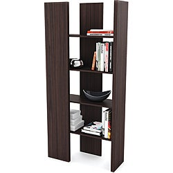 Sonax Ebony Pecan Open Ended Storage Shelf