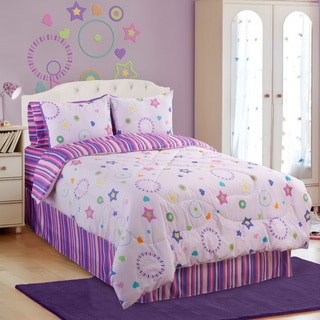 Glow In The Dark Star Glow 4-piece Full-size Comforter Set
