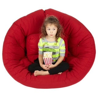 Scoop Red Futon Chair
