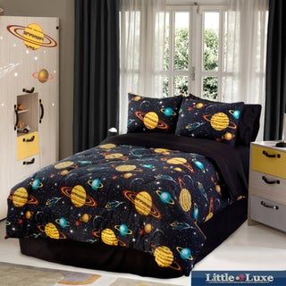 Galaxy Glow In The Dark 3-piece Twin-size Comforter Set