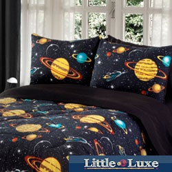 Galaxy Glow In The Dark 4-piece Full-size Comforter Set