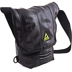 Black 'Kickstand' 15-inch Mini Laptop Messenger Bag