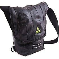 Black 'Kickstand' 15-inch Mini Laptop Messenger Bag