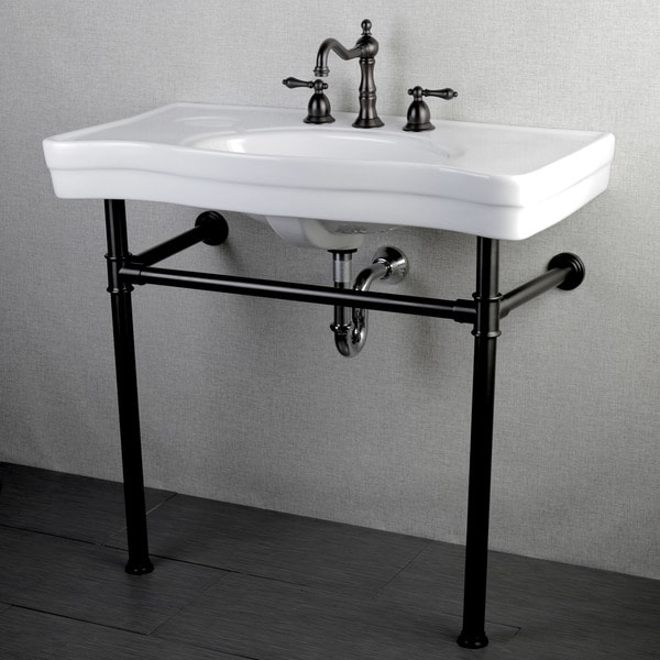 ... 32-inch for 4-inch Center Wall Mount Pedestal Bathroom Sink Vanity