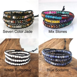 Treasure Triple Wrap Leather Bracelet (Thailand)