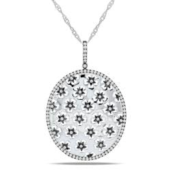 Miadora 14k White Gold 2 7/8ct TDW Black and White Diamond Necklace (H-I, SI1)