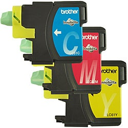 Brother LC61 Cyan/ Magenta /Yellow Ink Cartridges (Pack of 3)