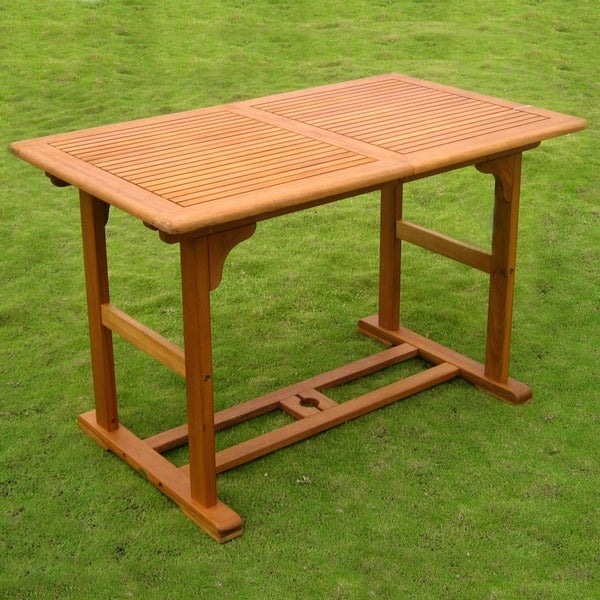 International Caravan Royal Tahiti 48-inch to 63-inch Butterfly Leaf Outdoor Rectangular Extension Table