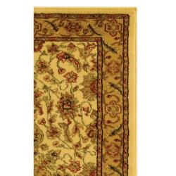 Lyndhurst Collection Ohsak Ivory/ Tan Rug (2'3 x 18')