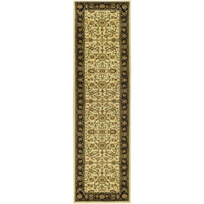 Safavieh Lyndhurst Collection Majestic Ivory/ Black Rug (2'3 x 18')