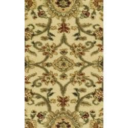 Lyndhurst Collection Majestic Ivory/ Black Rug (2'3 x 18')