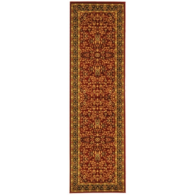 Safavieh Lyndhurst Collection Persian Treasure Red/ Black Rug (2'3 x 18')