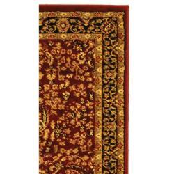 Safavieh Lyndhurst Collection Persian Treasure Red/ Black Rug (2'3 x 18')