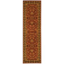 Lyndhurst Collection Persian Treasure Red/ Black Rug (2'3 x 18')