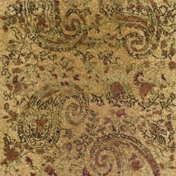 Lyndhurst Collection Paisley Beige/ Multi Rug (2'3 x 18')