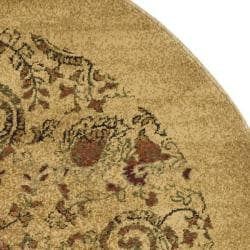 Lyndhurst Collection Paisley Beige/ Multi Rug (7' Round)