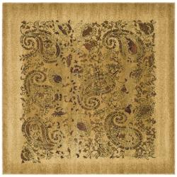 Safavieh Lyndhurst Collection Paisley Beige/ Multi Rug (7' Square)