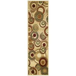 Lyndhurst Collection Circ Ivory/ Multi Rug (2'3 x 18')