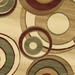 Lyndhurst Collection Circ Ivory/ Multi Rug (7' Round) Safavieh Round/Oval/Square