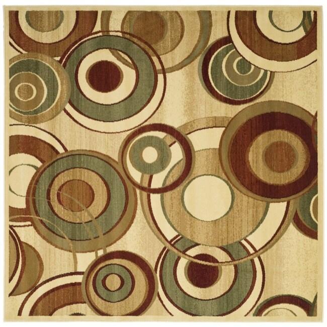 Safavieh Lyndhurst Collection Circ Ivory/ Multi Rug (7' Square)