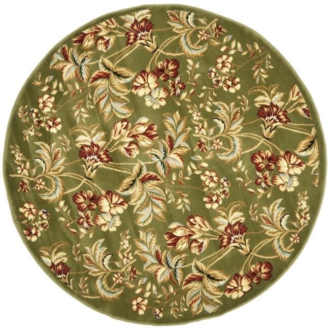 Safavieh Lyndhurst Collection Floral Sage Rug (7' Round)