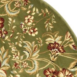 Lyndhurst Collection Floral Sage Rug (7' Round)