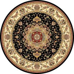 Safavieh Lyndhurst Collection Traditional Black/ Ivory Rug (7' Round)