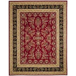 Lyndhurst Collection Red/ Black Rug (9' x 12')