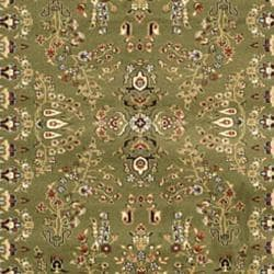 Lyndhurst Collection Sage/Ivory Oriental Rug (9' x 12')