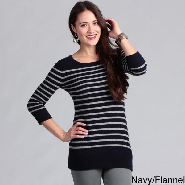 Grace Cashmere Women's Striped Tunic