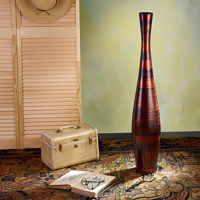 Copperworks Medium Trumpet Floor Vase (Indonesia)