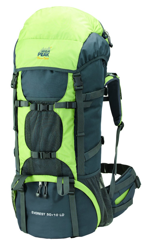 Alpinizmo by High Peak USA Everest 50+10 Hiking Backpack with Detachable Toplid