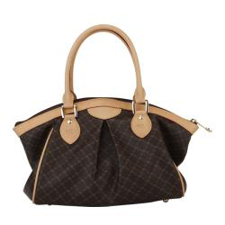Rioni Signature Print Pleated Canvas Satchel