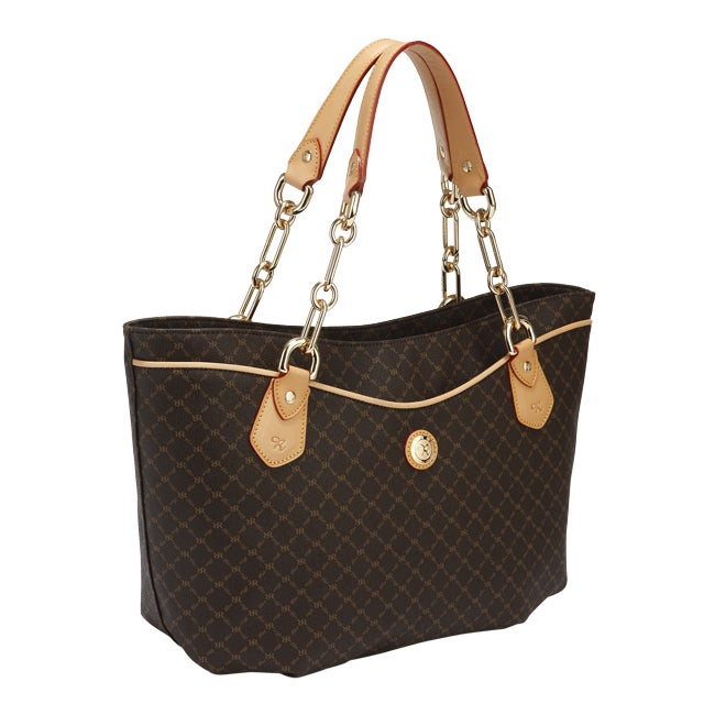 Rioni Signature Print Chain-handled Canvas Tote