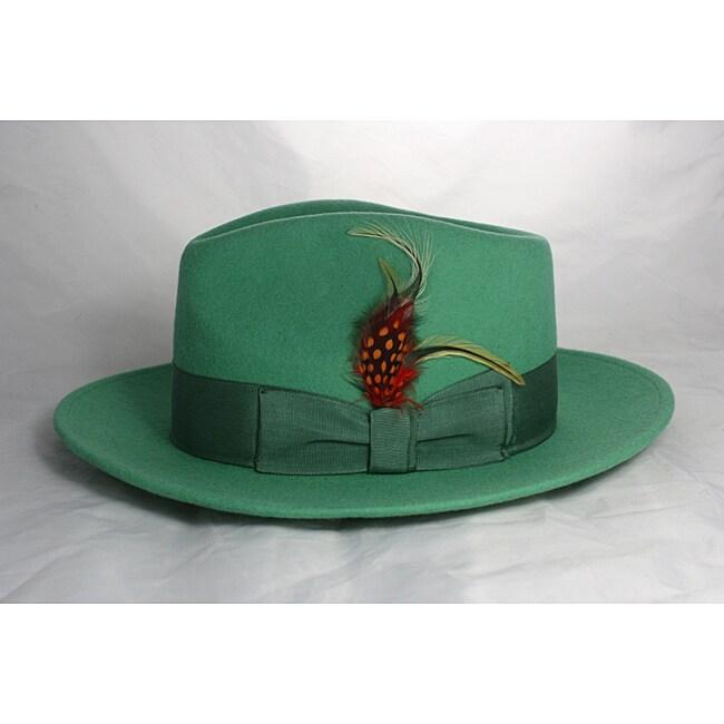 Ferrecci Kid's Mint Green Fedora Hat