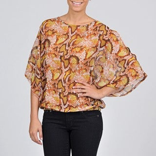 AnnaLee + Hope Women's Reptile-printed Top
