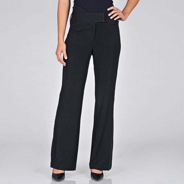 AnnaLee + Hope Women's Black Tuxedo Pants