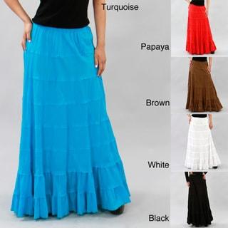 Meetu Magic Women's Full-length Tiered Skirt