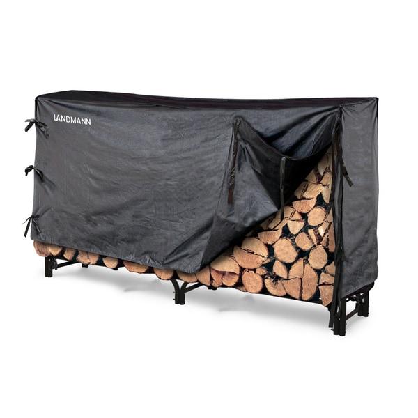 Landmann 8' Black Log Rack with Cover