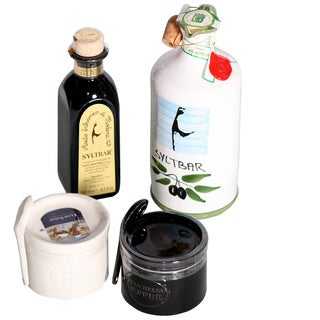 Syltbar Essentials Gourmet Natural Salt, Pepper, Olive Oil and Balsamic Vinegar